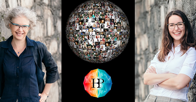 Decorative image of Karin Grasenick & Julia Trattning with HBP logo